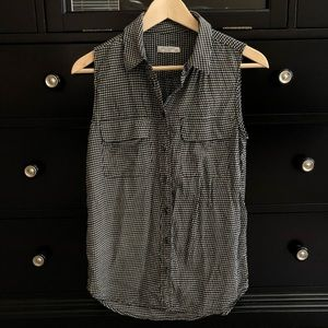 Equipment Silk Houndstooth Top